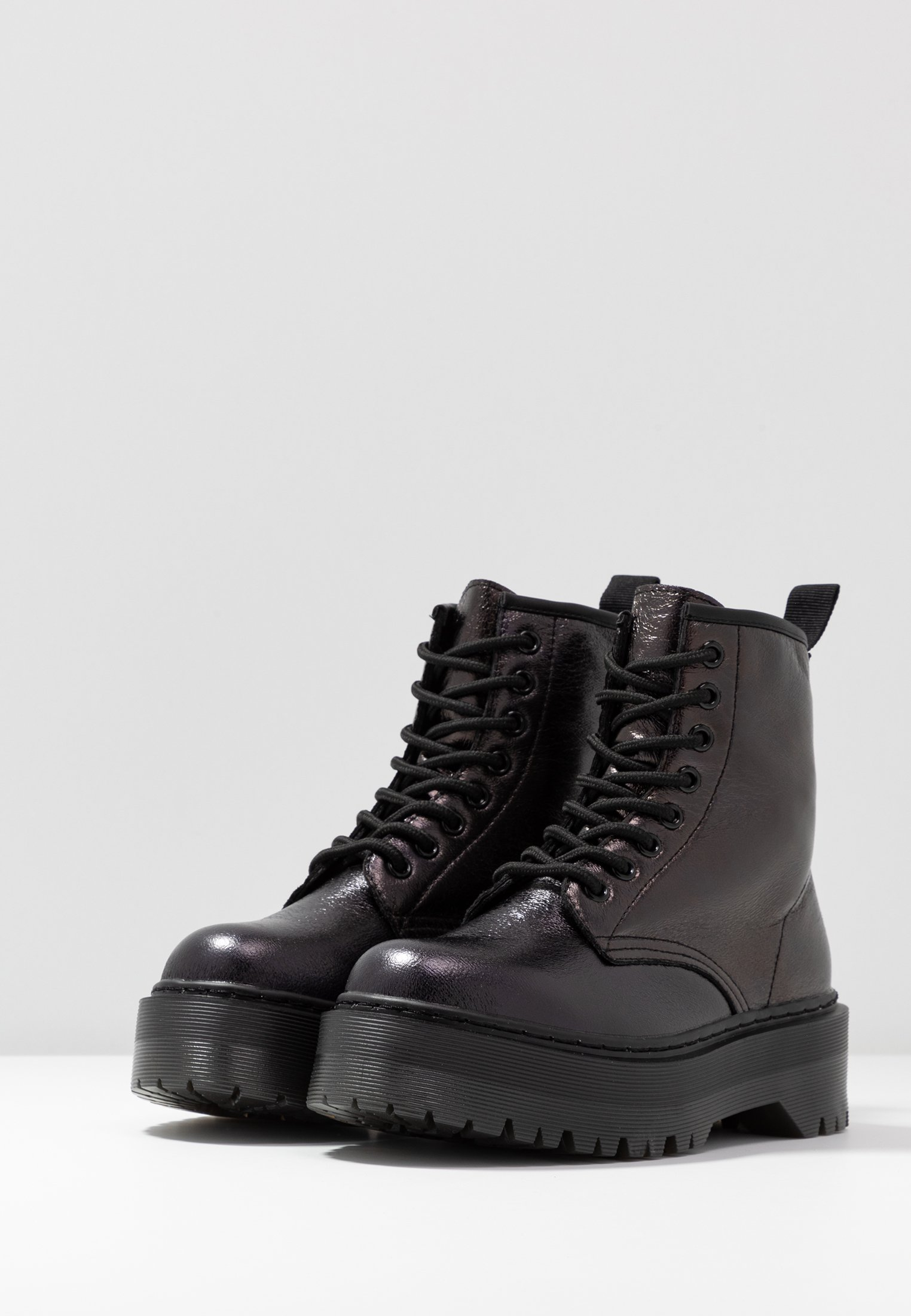 Italia Bottines black plateau à Tata KclJ1TF