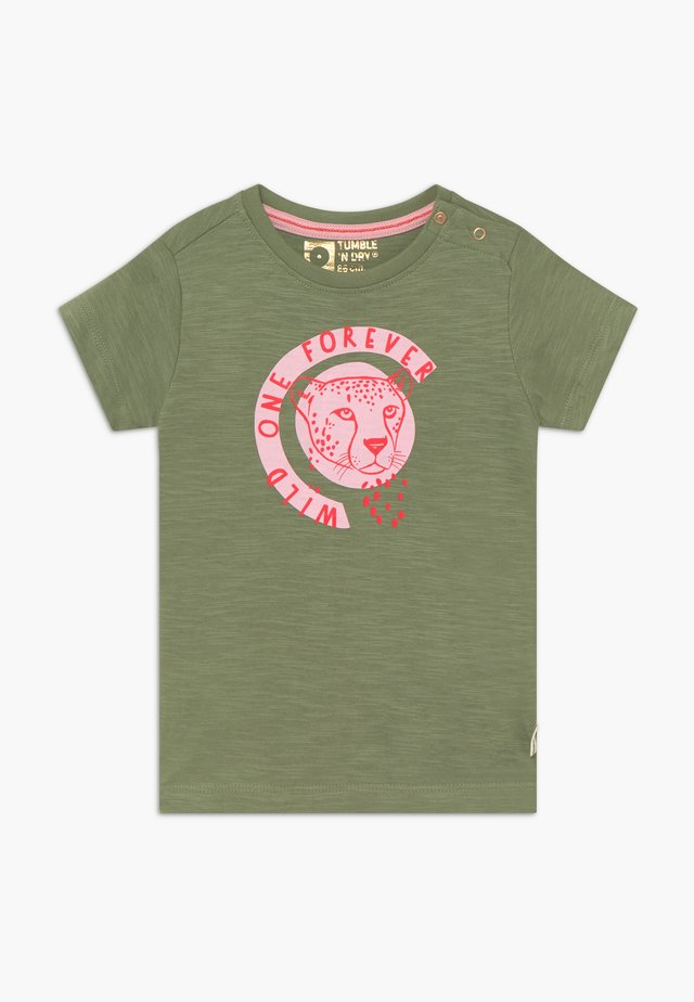 MELINA - T-shirt med print - hedge green