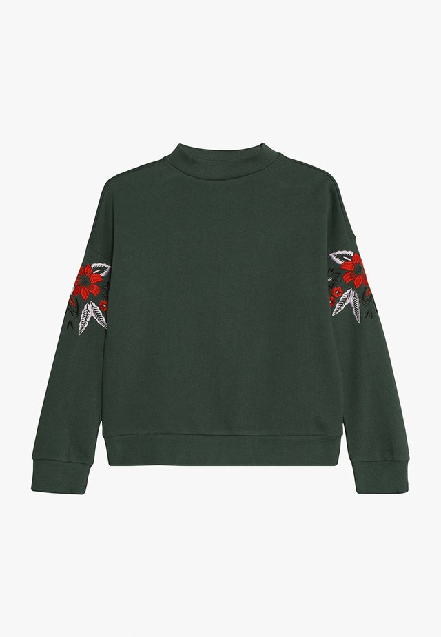 BENTER - Sweater - green army
