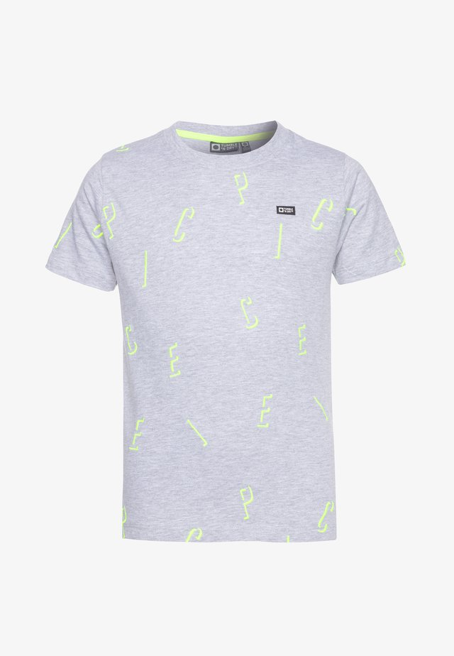GOSSO - T-shirt med print - light grey
