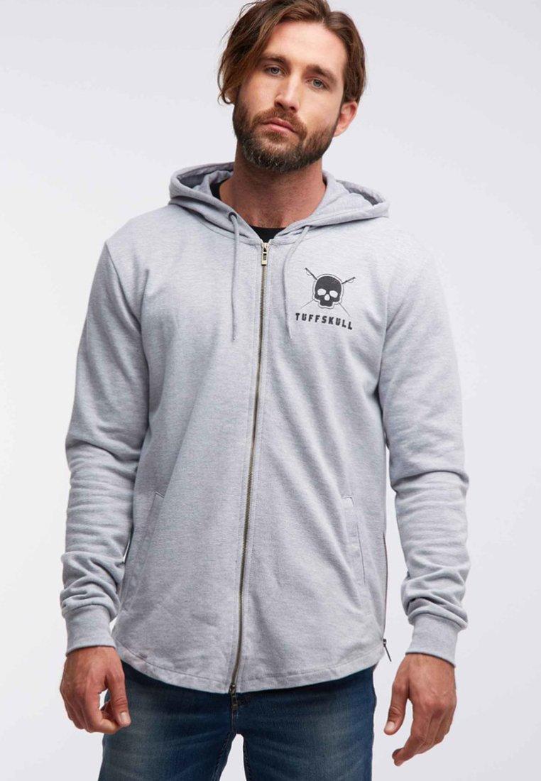 Tuffskull - Zip-up hoodie - grey melange