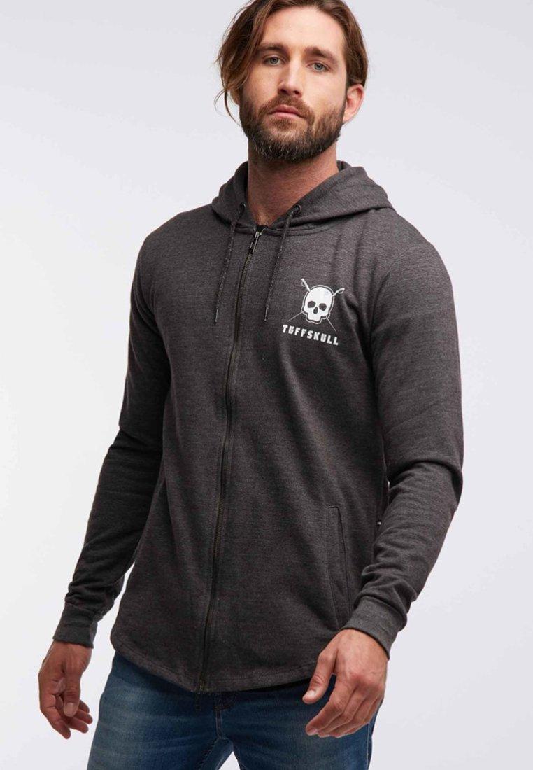 Tuffskull - Zip-up hoodie - dark gray melange