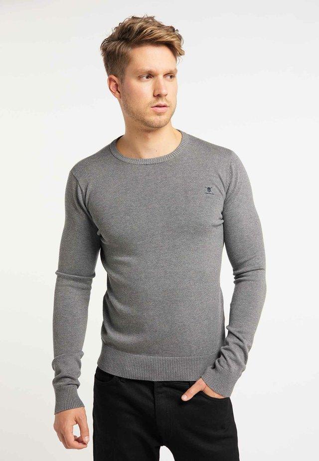 Strickpullover - dark gray melange