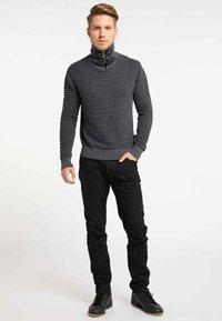TUFFSKULL - Stickad tröja - dark grey/anthracite - 1