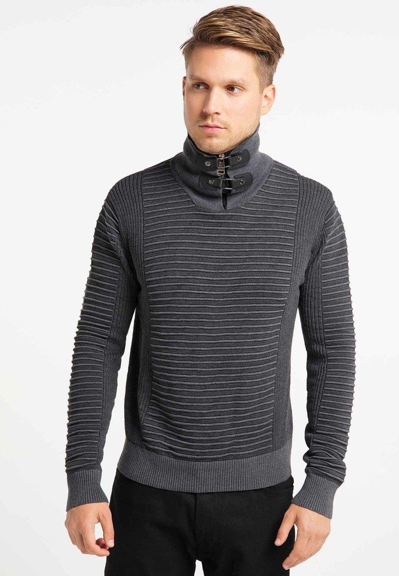 TUFFSKULL - Stickad tröja - dark grey/anthracite