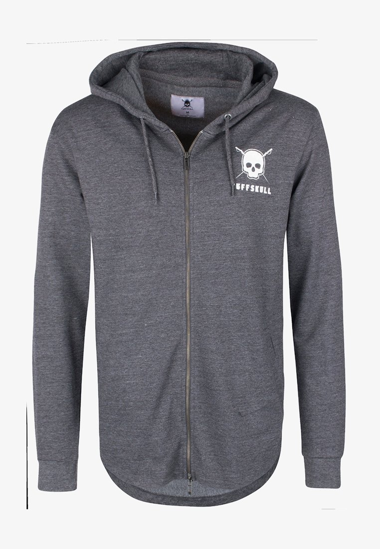Tuffskull - Zip-up hoodie - dark grey melange