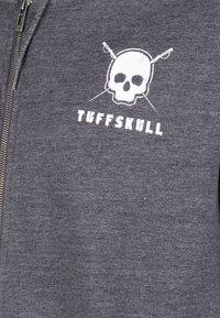 TUFFSKULL - Bluza rozpinana - dark grey melange - 3