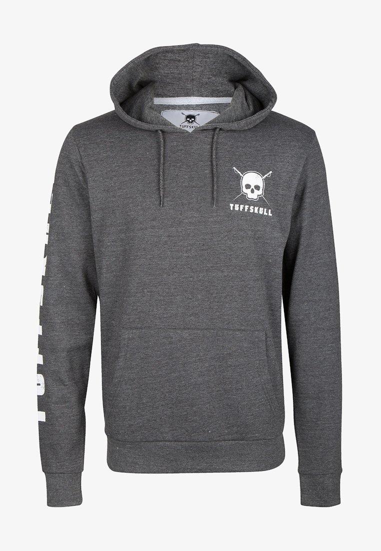 Tuffskull - Jersey con capucha - dark grey melange