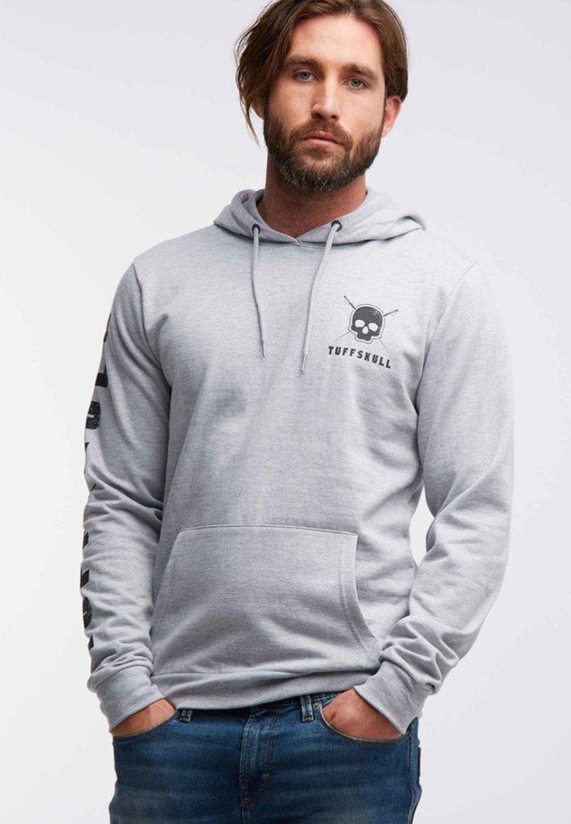 Hoodie - gray melange
