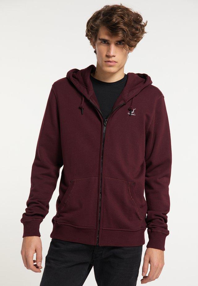 Zip-up hoodie - bordeaux