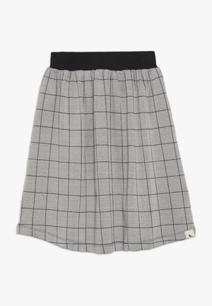 CHECK MIDI SKIRT - Áčková sukně - grey/black