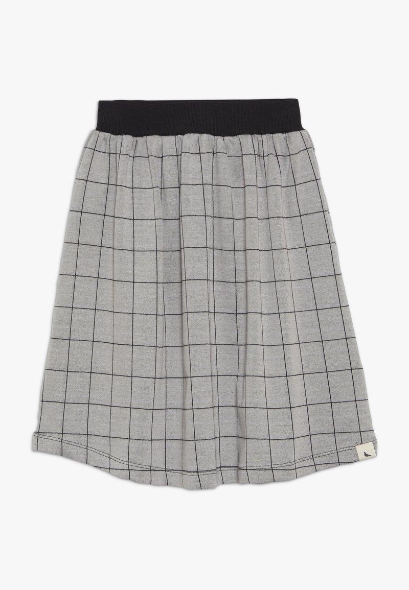 Turtledove - CHECK MIDI SKIRT - Áčková sukně - grey/black