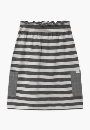 REVERSIBLE STRIPE MIDI - A-line skirt - monochrome