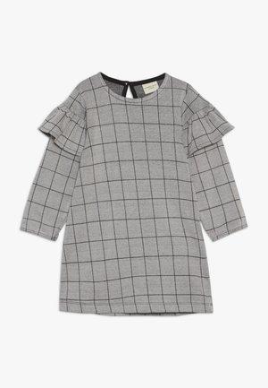 CHECK FRILL SLEEVE - Žerzejové šaty - grey/black