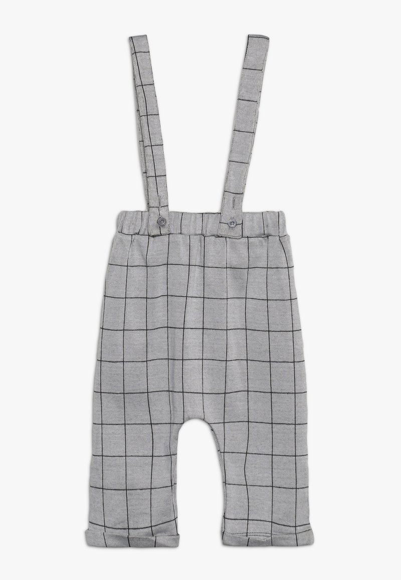 Turtledove - CHECK BRACER TROUSER BABY - Dungarees - grey/black