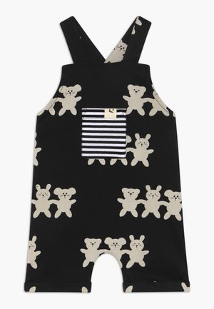 BESTIES SHORTIE DUNGAREES BABY - Latzhose - black/white