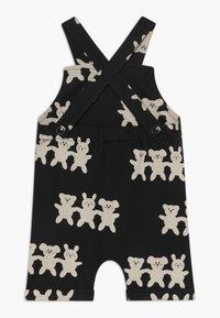 Turtledove - BESTIES SHORTIE DUNGAREES BABY - Tuinbroek - black/white - 1