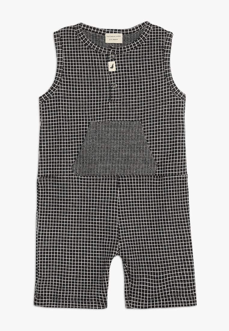 Turtledove - GRID SHORTIE ALL IN ONE BABY - Jumpsuit - monochrome