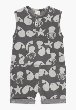 SEA FRIENDS SHORTIE TANK BABY - Mono - grey/white