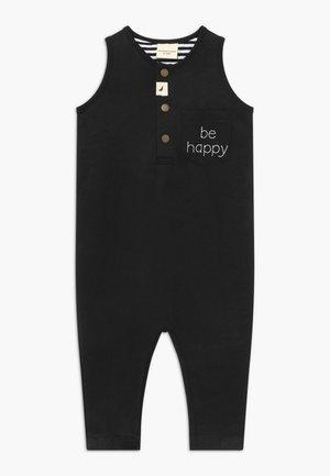 BE HAPPY TANK DUNGAREE BABY - Mono - black