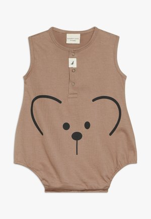 BEAR FACE BUBBLE ROMPER BABY - Overal - brown