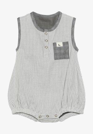 REVERSIBLE WOVEN STRIPE BUBBLE ROMPER BABY ZGREEN - Sleep suit - grey/black