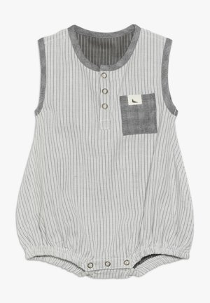 REVERSIBLE WOVEN STRIPE BUBBLE ROMPER BABY ZGREEN - Dupačky - grey/black