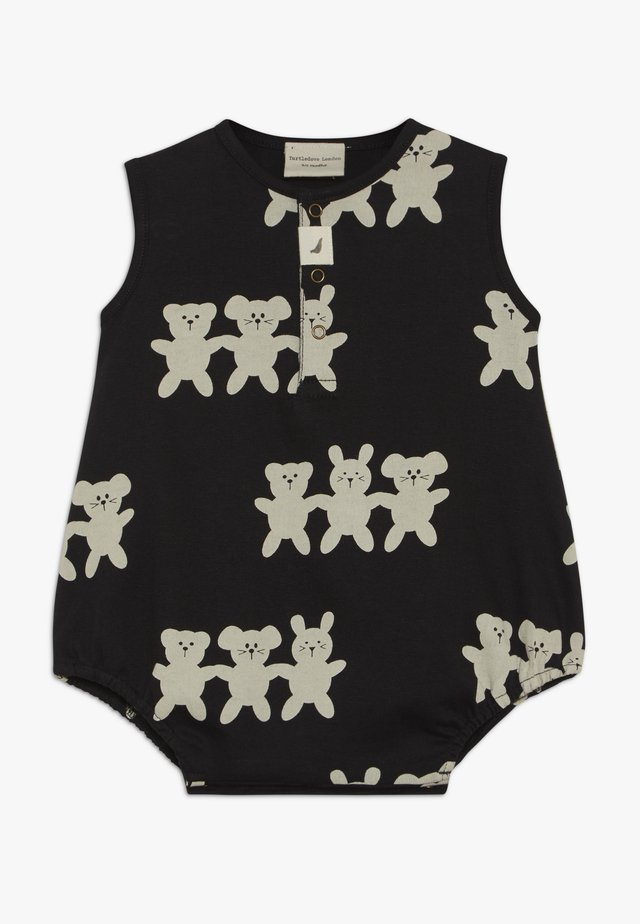 BESTIES BUBBLE ROMPER BABY - Sleep suit - black/white