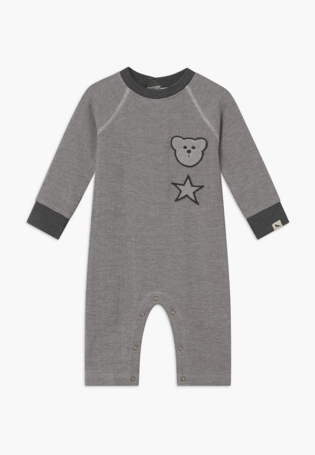 BADGED COSY PLAYSUIT BABY - Tuta jumpsuit - grey