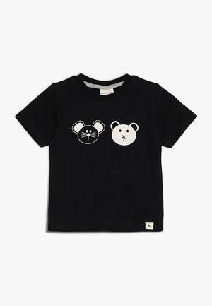 BEST FRIENDS  - T-shirt z nadrukiem - monochrome