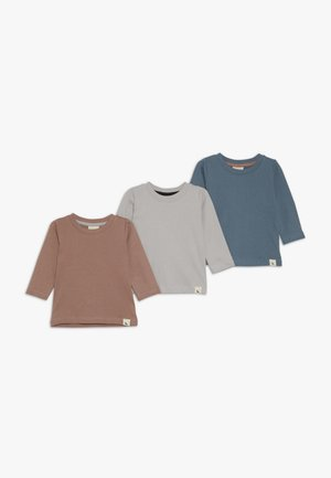 LAYERING BABY 3 PACK - T-shirt à manches longues - grey/brick/denim