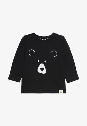 BEAR HEAD BABY - Top sdlouhým rukávem - black