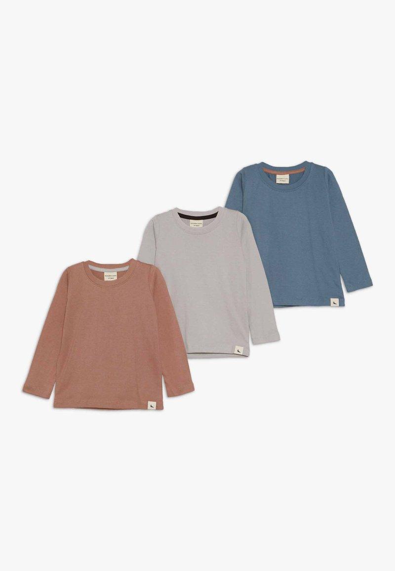 Turtledove - LAYERING TOP 3 PACK - Langærmede T-shirts - grey/brick/denim