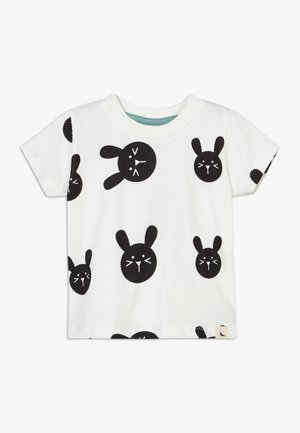 BUNNY PRINT BABY - T-shirt con stampa - white/black