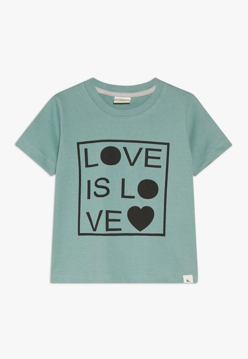 Turtledove - LOVE IS LOVE - Triko spotiskem - green