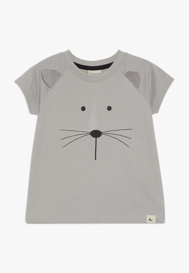 MOUSE FACE - Print T-shirt - grey