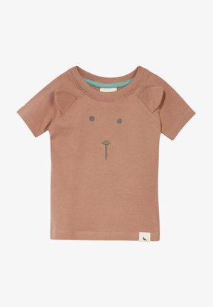 BEAR FACE BABY  - Triko spotiskem - brown
