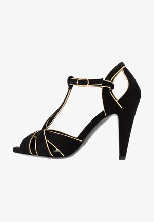 Sandalen met hoge hak - nero