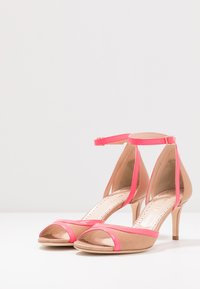 TWINSET - Sandals - desert/fuxia fluo - 4