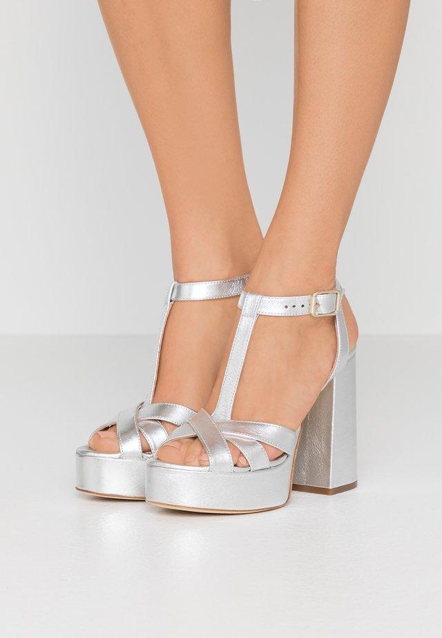 High heeled sandals - argento