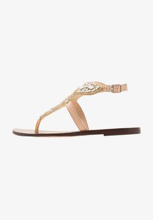 Sandály s odděleným palcem - nougat