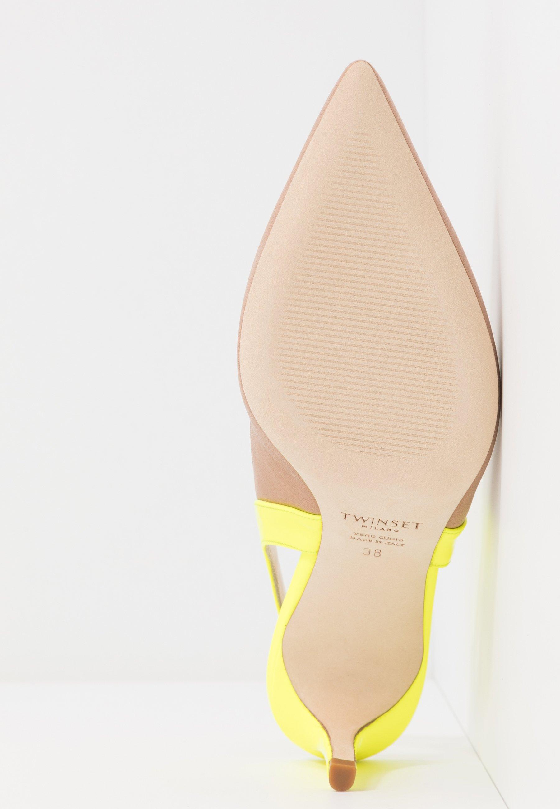Twinset Pumps - Desert/giallo Fluo