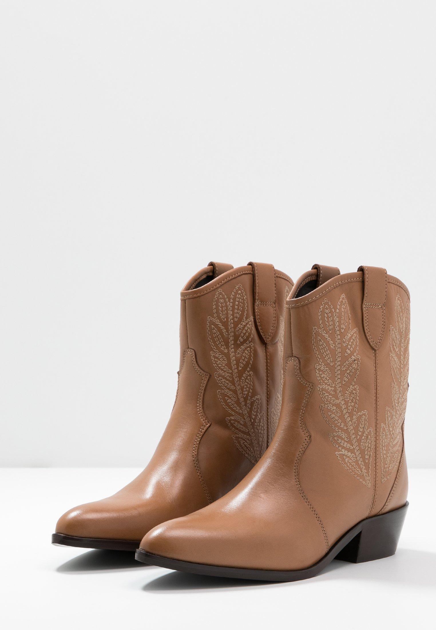 TWINSET Stivaletti texani / biker dark brown