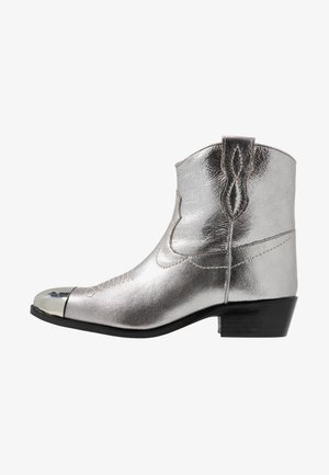 Kovbojské/motorkářské boty - argento laminato