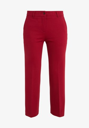 PANTALONE ZAMPETTA IN PUNTO MILANO - Trousers - beet red