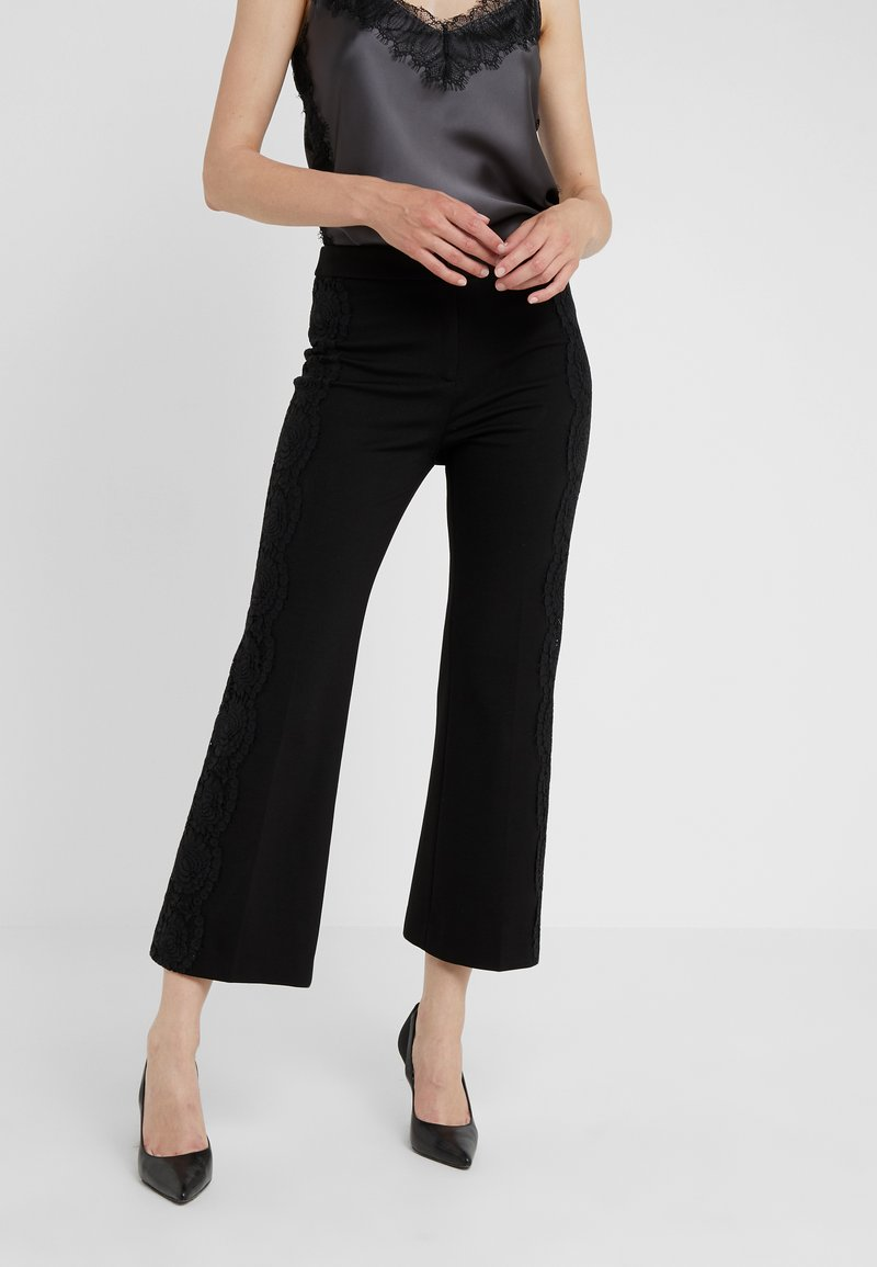 TWINSET - PANTALONE IN PUNTO MILANO - Trousers - black