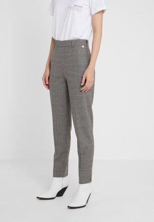 PANTALONE SIGARETTA IN TESSUTO DISEGNO GALLES - Spodnie materiałowe - dark grey