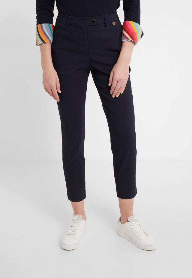 PANTALONE NEW YORK IN BENGALINA - Trousers - blu notte