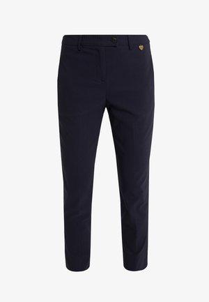 PANTALONE NEW YORK IN BENGALINA - Spodnie materiałowe - blu notte