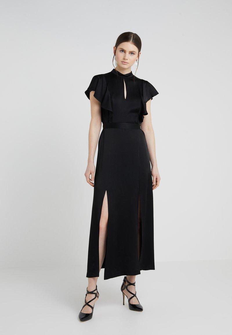 TWINSET - ABITO LUNGO IN ENVER CON CINTURA - Maxi dress - nero